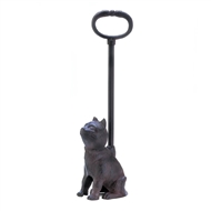 Cast Iron Kitty Cat Door Stopper w/Handle