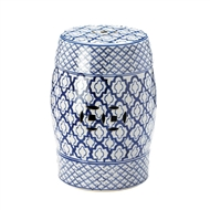 Blue And White Decorative Ceramic Stool Table