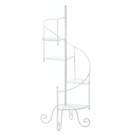 Staircase Design White Metal Plant Stand