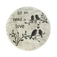 All You Need Is Love Stepping Stone Path Marker