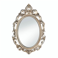 Royal Crown Gold Wood Oval Mirror