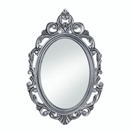 Royal Crown Silver Wood Oval Mirror