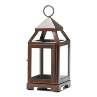 Copper Mini Contemporary Metal Candle Lantern