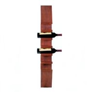 Sleek 6-Bottle Wooden Wine Wall Rack