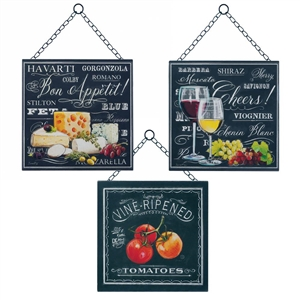 Bon Appetite Wall Art Trio Set