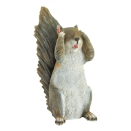 See No Evil Standing Squirrel Decor