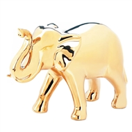 Large Polished Golden Elephant Figure