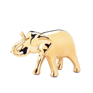 Small Polished Golden Elephant Figure