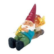 Solar-Powered Sleepy Gnome Figurine