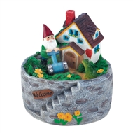 Storybook Home Gnome Solar Statue