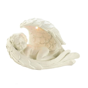 Sleeping Cherub Angel Solar Figurine