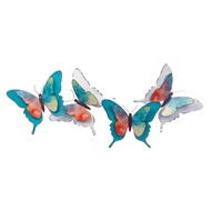 Watercolor Butterfly Metal Wall Art
