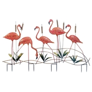 Pink Flamingo Garden Stake Decor