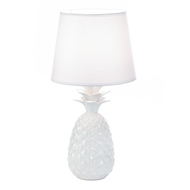 White Pineapple Porcelain Table Lamp