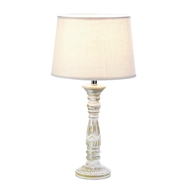 Weathered White Ceramic Table Lamp