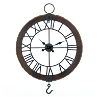 Roman Numerals Industrial Round Wall Clock