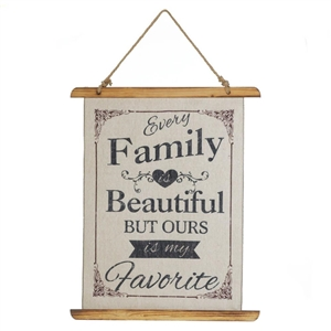 Beautiful Family Linen Wall Art