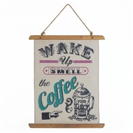 Smell The Coffee Linen Wall Art