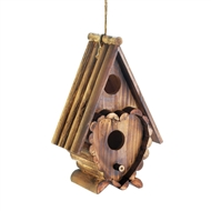 Heart Shape Rustic Wood Birdhouse