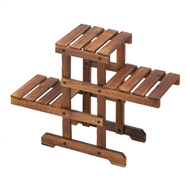 ZigZag Pallet 3-Tier Wood Plant Stand