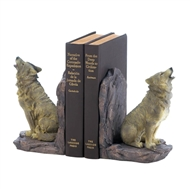 Howling Wolf Bookends 2PC Set