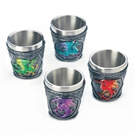 Mythical Dragons Shot Glasses Set of 4
