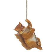 Swinging Hanging Squirrel Decor