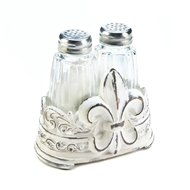 Fleur-De-Lis Salt And Pepper Shakers Set
