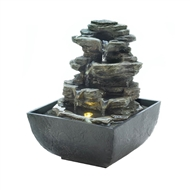 Mini Waterfalls Tabletop Electric Water Fountain