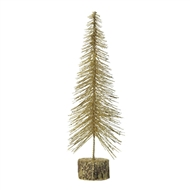 "Medium Gold Glitter Tree 16"" High"