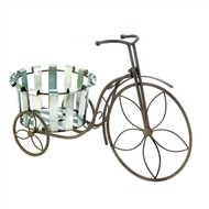 Galvanized Bucket Tricycle Iron Plant Stand
