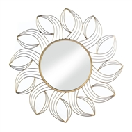 Golden Petals Gold Wall Mirror