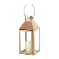 Rose Gold Stainless Steel Manhattan Candle Lantern