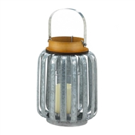 Industrial Inspired Galvanized Metal Candle Lantern