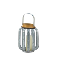 Small Industrial Inspired Galvanized Candle Lantern