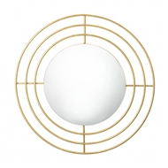Gold Modern Round Wall Mirror