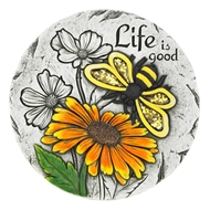 Life Is Good Sunflower Bee Stepping Stone