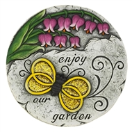 Enjoy Our Garden Bumble Bee Stepping Stone