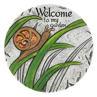 Welcome To My Garden Snail Stepping Stone Path Marker