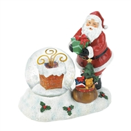 Santa Gifts And Chimney LED Snow Globe