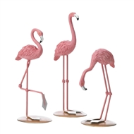 Flamingo Trio Tabletop Decor