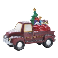 Light Up Red Merry Christmas Toy Delivery Truck