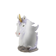 White Unicorn Mane Wrapped Wine Bottle Holder