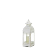 White Lace Victorian Candle Lantern