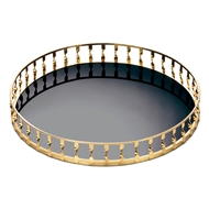 Gold Twist Mirrored Decorative Accent Tray