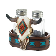 Bison Skull Salt And Pepper Shakers Set