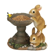 Frolicking Brown Bunnies Bird Feeder