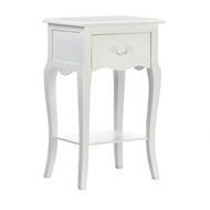 Country Loft 1-Drawer White Side Table