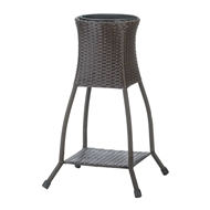 Brown Tuscany Wicker Plant Stand
