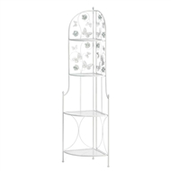 Butterfly 4-Tier White Corner Plant Stand